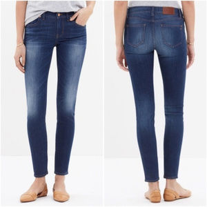 MADEWELL chilton wash skinny skinny crop jeans AO1